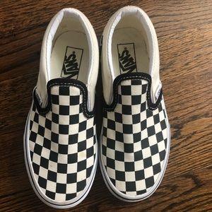 Kids black/white checkered Vans